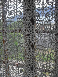 crochet curtain pattern - Google Search