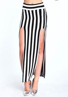 #Love Culture             #Skirt                    #DOUBLE #SLIT #STRIPED #SKIRT                       DOUBLE SLIT STRIPED SKIRT                           http://www.seapai.com/product.aspx?PID=4893