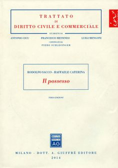 Il possesso / Rodolfo Sacco, Raffaele Caterina. - Milano : A. Giuffrè, 2014. -  3ª ed.