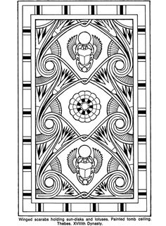 Many free Egyptian coloring pages Egyptian Scarab, Egyptian Symbols, Egyptian Art, Cool Coloring Pages, Adult Coloring Pages, Coloring Books, Ancient Persian, Ancient Art, Doodles Zentangles