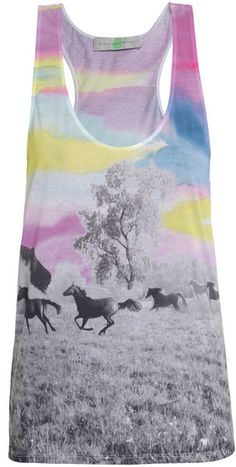Rainbow Horse Cotton Tank