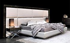 ARCHITECTURE - MACASSAR EBONY FRAMED PANELLED BED ART.KIM