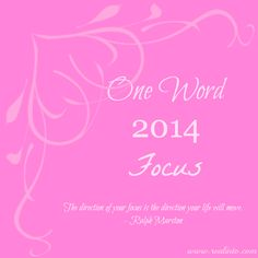 I actually chose this to be my word of the year. 2014 year of focus! Focus Quotes, Great Quotes, Life Quotes, Inspirational Quotes, Loyal Friends, One Word, Christian Inspiration, Note To Self, Powerful Words