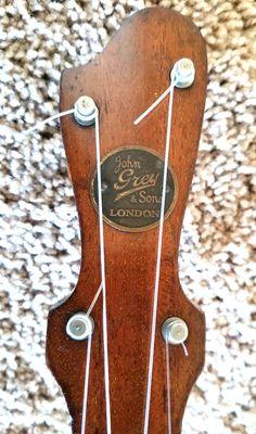 John Grey & Sons banjo ukulele Banjo Ukulele, Banjos, Guitars, Sons, Grey, Gray, Banjo, My Son, Boys