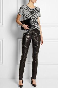 Excelente propuesta para una noche de carrete. SAINT LAURENT Leather skinny pants