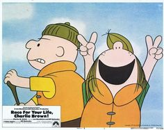RACE FOR YOUR LIFE CHARLIE BROWN -1977 - orig 11x14 US Lobby Card Set - 8 CARDS