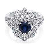 Blue & White Sapphire Ring in Sterling Silver - Shop All Rings - Rings - Jewelry - Helzberg Diamonds