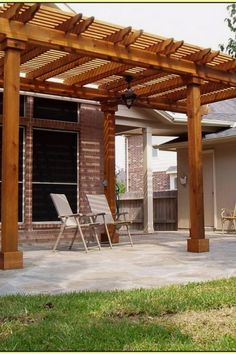 The pergola kits are the easiest and quickest way to build a garden pergola. There are lots of do it yourself pergola kits available to you so that anyone could easily put them together to construct a new structure at their backyard. Building A Pergola, Wood Pergola, Pergola Garden, Pergola Canopy, Cheap Pergola, Outdoor Pergola, Backyard Pergola, Pergola Shade, Pergola Plans