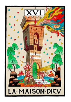 XVI. The Tower - Jamie Hewlitt Tarot by Jamie Hewlitt