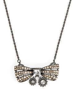 The Vintage Bow Necklace by JewelMint.com, $29.99