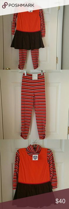 Young Colors boutique 3pc Outfit NWT SZ 6 for fall Young Colors boutique Outfit NWT SZ 6 for fall. This is called Harvest Pumpkin. this is a 3 pc set. Leggings,Turtleneck,,and corduroy top Young Colors  Matching Sets