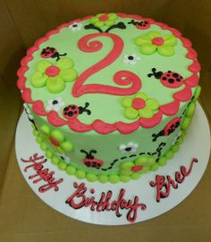 With mini watermelons? Cake Cookies, Cupcake Cakes, Cupcakes, Bug Birthday Cakes, Bug Cake, Animal Party, Party Animals, Garden Cakes, Rose Cake