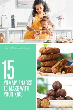 Cooking with kids is a great way to get them engaged with their food and to teach valuable life skills. Here are 15 yummy ideas they'll love helping with and you'll all love eating! Snacks To Make, Yummy Snacks, Food To Make, Great Recipes, Healthy Recipes, Easy Recipes, Cheap Easy Meals, Cooking With Kids, Life Skills