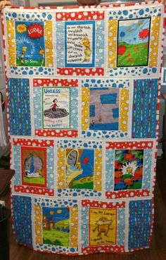 Dr. Seuss quilt for a friend