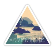 Wanderlust Beach Boho Typography Adventure Print Sticker