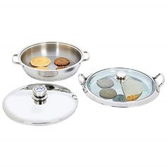 Chef's Secret® by Maxam® Heavy-Gauge Stainless Steel 4 Piece Griddle Set