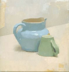 Diarmuid Kelley - I love pitchers, borderline posessed. Not sure why. Also love smushy paintings like this.