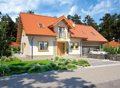 Projekt domu Ajaks Bis G2 127,26 m2 - koszt budowy - EXTRADOM Home Fashion, Cabin, Mansions, House Styles, Home Decor, Decoration Home, Manor Houses, Room Decor, Cabins