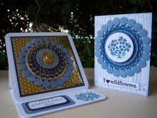 "Spirella card by Janet Bradshaw  Texana Designs stamps:  Jam'n Verbena, Jam'n Wildflower (tall) and Jam'n I ""heart"" wildflowers."
