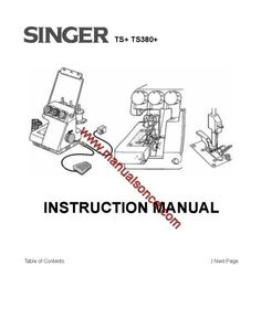 Singer 750 Sewing Machine Service Manual Repairs Parts