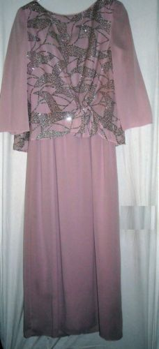 "Soft Pink Dress with Silver Sparkles Fits to 39""Bust Size Medium Free Shipping $15.99"