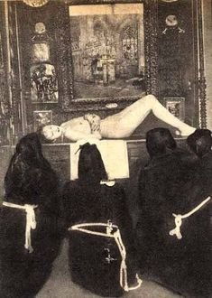 """thechymicalmarriage:  """" Black mass held by Maria de Naglowska(she is in the middle), the Sophiale of Montparnasse, Russian mystic,self styled Satanic woman and translator of P.B. Randolph's (the man responsible for introducing sexual sorcery to the..."""