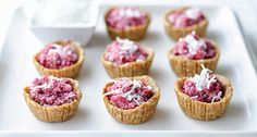 Vegan Healthy No-Bake Raspberry Tart Cups