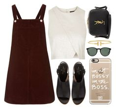 """""""♡"""" by brenndha ❤ liked on Polyvore featuring Topshop, Kate Spade, Casetify, Yves Saint Laurent, Polo Ralph Lauren, Tiffany & Co., women's clothing, women, female and woman"""