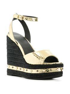 f455c07d069 Versace Metallic Wedge Sandals - Farfetch