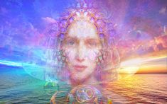 FCGCT Commentary: We are moving from reminding, to reHearting. Remembrance of the ancient wisdom of the Heart, connected to the Unified Heart. Fantasy Art Landscapes, Fantasy Landscape, Space Fantasy, Divine Mother, Nature Spirits, New Earth, Visionary Art, Spiritual Awakening, Gaia