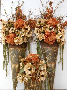 floral arrangement table and wall decor fall flower arrangement silk flower arrangement rustic home decor silk florals - Silk Arrangements For Home Decor