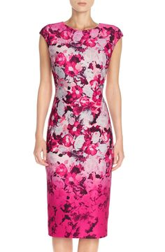 Vince Camuto Floral Scuba Midi Dress available at #Nordstrom