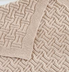 Knitting Pattern Easy Basketweave Baby Blanket