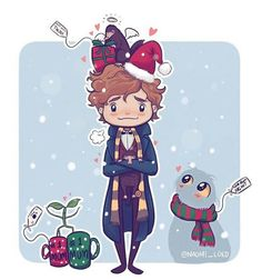 Aww..Newt during the holidays <33