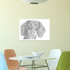DACHSHUND METAL PERFORATED