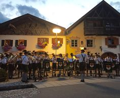 Bavarian band playing in Mittenwald