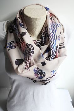 Star Wars Scarf BB-8 Infinity Scarf R2-D2 Scarf Darth Vader Scarf Star Wars Accessories Circle Scarf Women Accessories Gift Ideas by dreamexpress from dreamexpress on Etsy. Find it now at http://ift.tt/1UzfAAi!