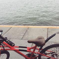 【shigyou】さんのInstagramをピンしています。 《先月一日の休みを取って、友達と一緒自転車に乗りました。自転車に乗るのは懐かしいなあ〜  #自転車 #海 #島 #うみ #bicycle #cycling #sea #island #coneyisland》