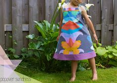 Free pattern from Oliver + S Popover Sundress. rainbow popover sundress by skirt_as_top, via Flickr