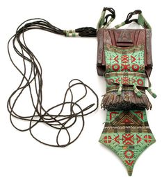 Africa   Leather and cotton satchel ~ etabu ~ from the Kel Dinnik Tuareg of Niger   20th century