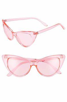 62b1289c09 Glance Eyewear 55mm Transparent Pastel Cat Eye Sunglasses Blush Pink Outfit