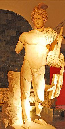 Statue of Hermes  - at the Antalya museum, Turkey