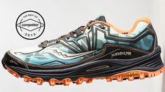 Saucony built the Xodus trail shoe specifically for running over gnarly terrain—rocks, roots, talus, loose gravel, boulders … you