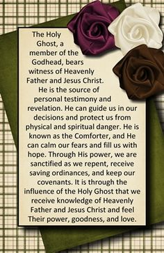 What are the roles of the Holy Ghost? USE THIS HANDOUT AS LESSON FOR THEM TO DO A FHE