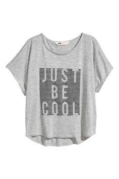 Camiseta amplia - Grey marl - NIÑOS | H&M ES