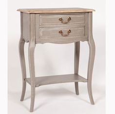 French styling shabby chic finish and modern colours make the Chateau collection of occasional pieces a must for any home All pieces have been Hall Furniture, Telephone Table, Modern Colors, Nightstand, Family Room, Shabby Chic, French Style, Side Tables, Drawer