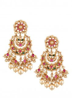 Chandbalis in Gold plated silver by Amrapali