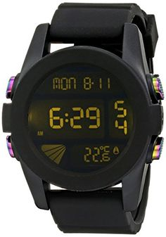 Nixon Mens A197163000 Unit Digital Display Automatic Self Wind Black Watch    Continue to the product d180b224a6d
