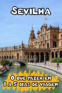 Dicas de roteiro em Sevilha para viagem de 1, 2, 3, 4 e 5 dias. Veja dicas sobre o que fazer em Sevilha, quais os lugares imperdíveis e quanto tempo ficar na capital da Andaluzia, na Espanha. Também é possível incluir destinos turísticos como Córdoba, Granada, Málaga e Ronda, cidades próximas a Sevilha.