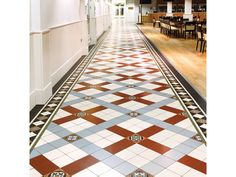 Cliveden with Melville border in Red, Grey and White incorporating Livingstone decorated tiles